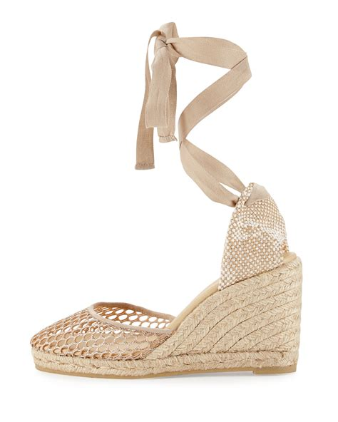 Wedges Kokop Hitam Glitter Gold lyst castaner glitter espadrille wedge sandal in metallic