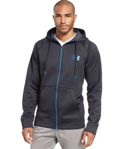 Hoodie Jaket Sweater Armour Athletics armour coldgear infrared zip hoodie in black for lyst