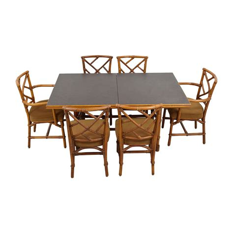 Bamboo Dining Table And Chairs 64 Bamboo Dining Set With Six Chairs Tables
