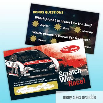 Scratch To Win Gift Cards - business card size scratch n win card usimprints