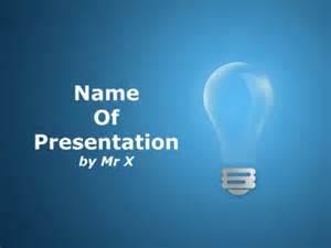 light bulb powerpoint template a light bulb on a blue background powerpoint template