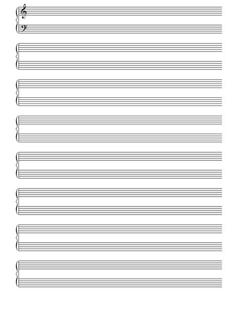 printable manuscript paper piano 6 best images of printable blank note sheets music note