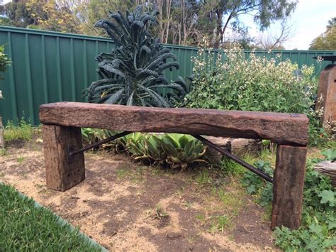railway sleeper bench used jarrah railway sleeper bench
