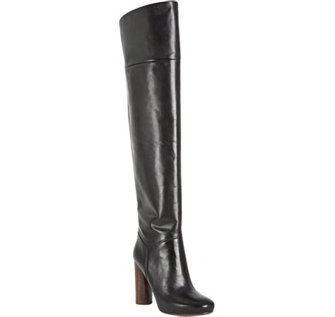 Chic The Knee Marc By Marc Boot by Marc By Marc Black Leather The Knee Boots In