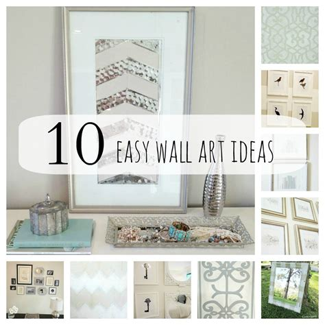 ideas for wall decor easy diy wall art ideas home design