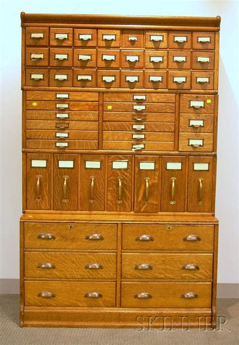 Globe Wernicke Oak Four Stack Fifty two Drawer File
