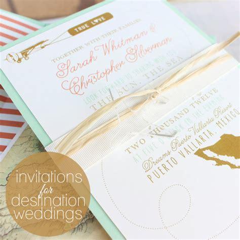 ideas for destination wedding invitations
