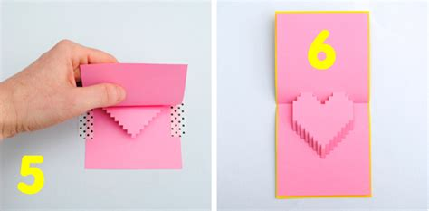 Pixelated Pop Up Card Template Pdf by Valentines Day Pixelated Popup Card Minieco