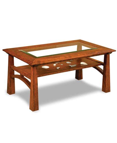 furniture glass top coffee table artesa glass top coffee table amish direct furniture