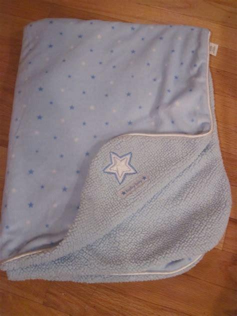 carters   year blue  white minky sherpa baby boy star blanket