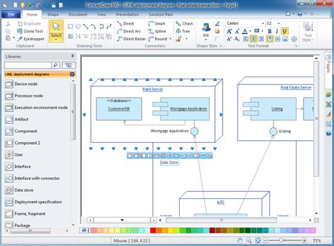 uml deployment diagram uml diagram software windows gallery how to guide and