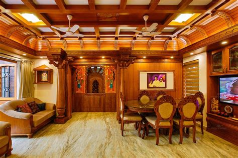 stunning dining area  wooden false ceiling  marble