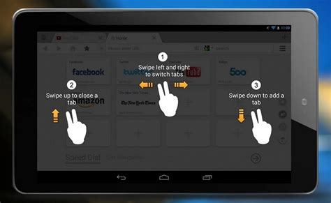 android swipe gesture uc browser adds tab swipe gestures for android tablets
