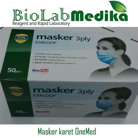 Onemed Masker 3 Ply Earloop Jilbab Masker Jilba Alat Medis Kesehatan masker karet onemed biolab medika