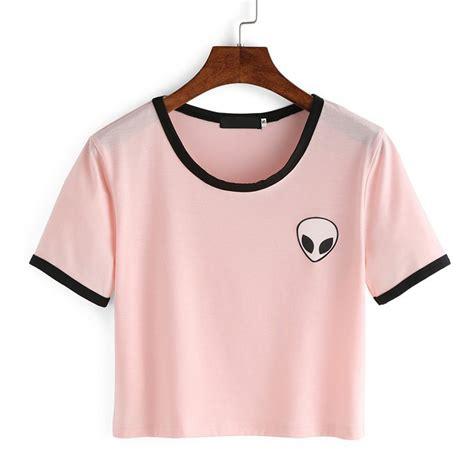 Adorable Shirts Pink White Fashion T Shirt Summer Style
