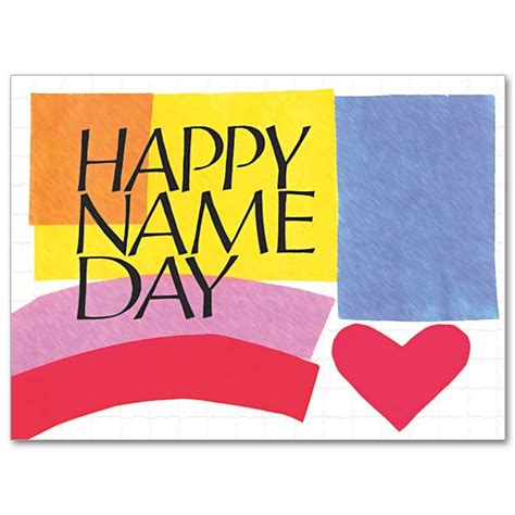 happy name day feast day card