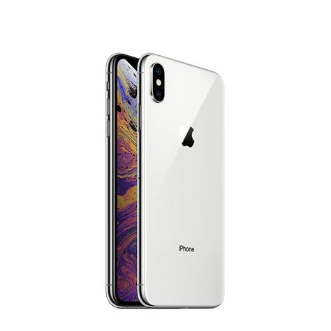 apple iphone xs max  gb   facetime silver