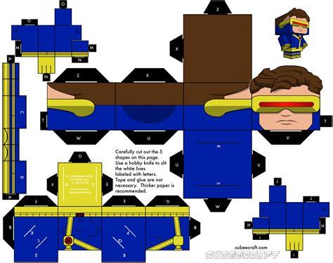 imagenes de x men en 3d hacete tus cubeecraft mu 241 ecos de papel en 3d taringa