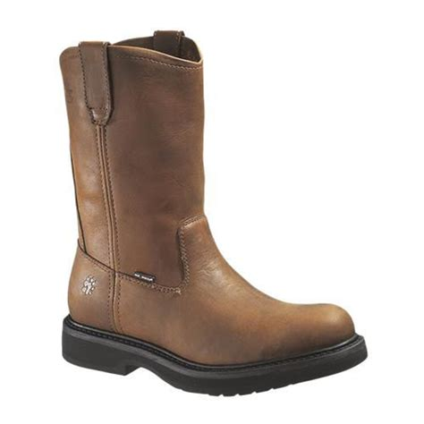 wide width work boots for wolverine s ingham 10 quot brown steel toe eh work boot
