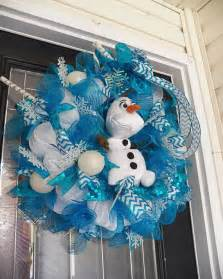frozen wreath with olaf frozen decoration by