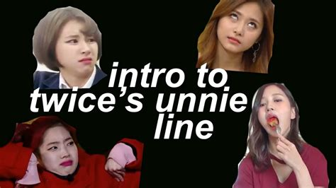 twice unnie line twice parallel universe intro to the unnie line youtube