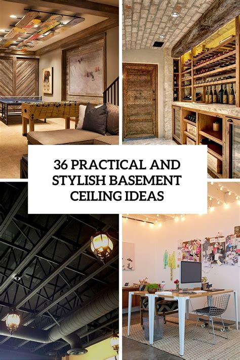 Rustic Home Interior Ideas 36 practical and stylish basement ceiling d 233 cor ideas