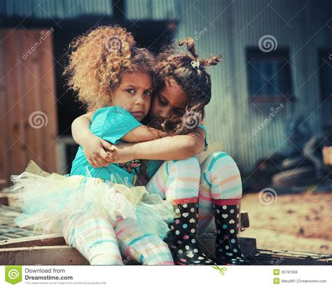 comfort each other sisters comforting each other royalty free stock photos