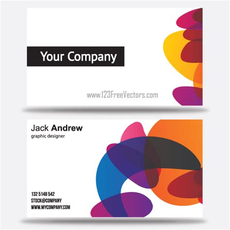 Business Card Template Vector Free by Free Colorful Business Card Templates Free