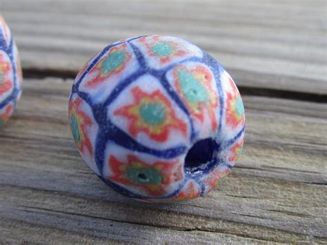 bead world palatine il glass trade blue with white green and orange