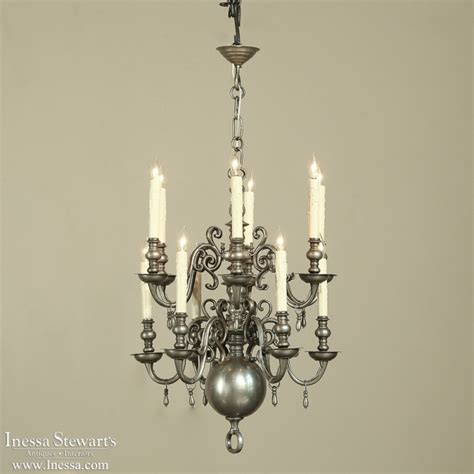antique pewter chandelier pewter chandelier inessa stewart s antiques