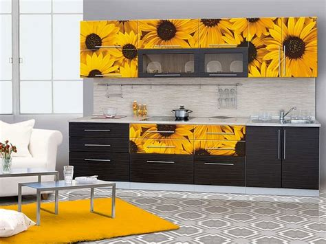 sunflower kitchen decorating ideas sunflower kitchen decor with painted sunflower on cabinet