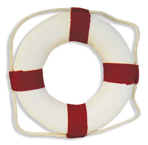 red and white life preserver ring decoration coastal