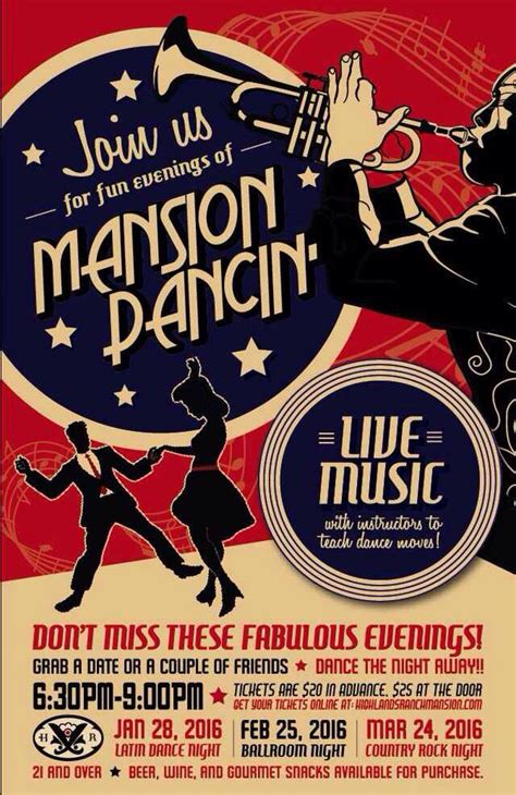 swing dance posters mansion dancin ad bundle client wanted design to mimic a