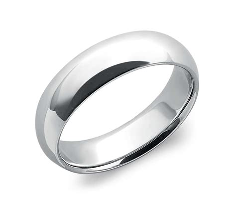 comfort fit wedding ring in platinum 6mm blue nile