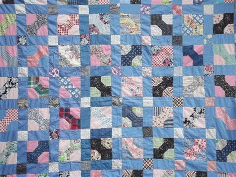 Stitched Patchwork Quilt - vintage patchwork quilt top stitched pieced cotton