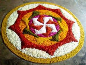 Rangoli Using Flowers - 25 most colourful rangoli designs with flowers