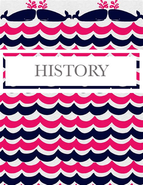 label design history cute binder cover binder covers printables pinterest