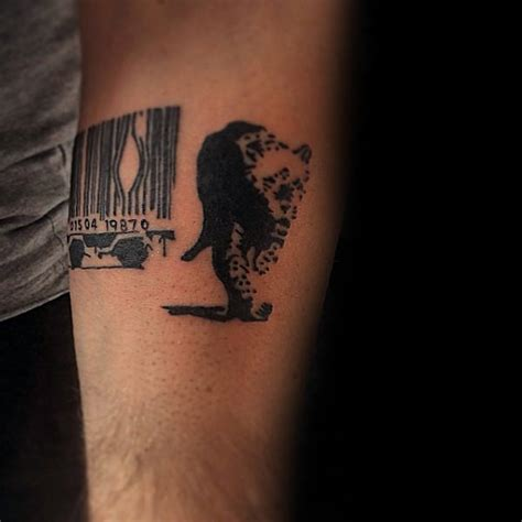 barcode animal tattoo 70 banksy tattoos for men street art ink design ideas