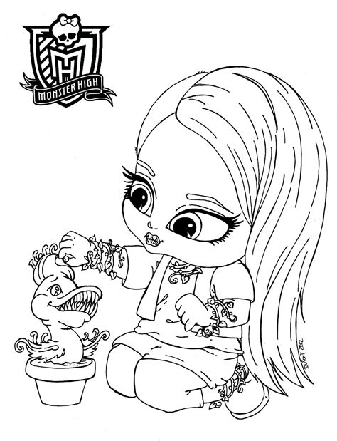 dibujos para colorear de monster high de beb s dibujos dibujos para colorear de monster high beb 233 s venuz