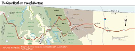 northern usa map montana road trip usa