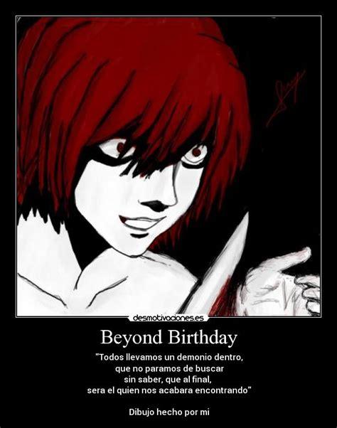 anime beyond beyond birthday desmotivaciones