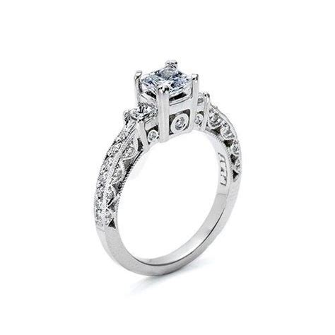 platinum princess cut diamonds engagement ring kuhn s