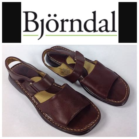 bjorndal bjorndal cushioned brown leather sandals size