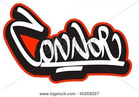 connor graffiti font style name hip hop design template