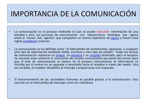importancia de la comunicaci 243 n 1