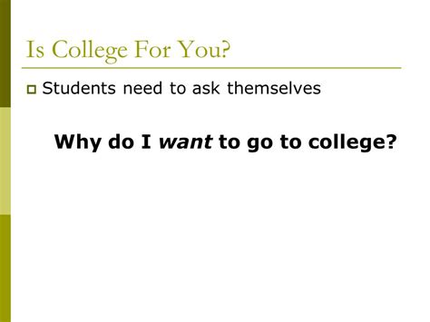 Why Do I Want To Go To College Essay Exles by After High School For Students With Special Needs Ppt