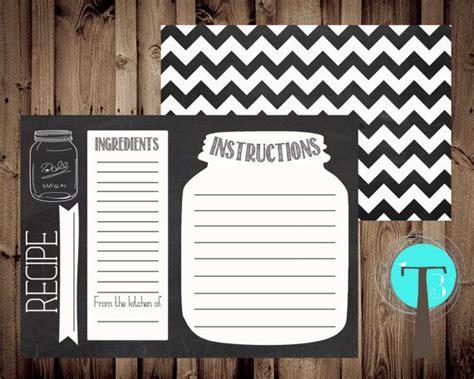 chalkboard recipe card template 1000 ideas about chalkboard jars on