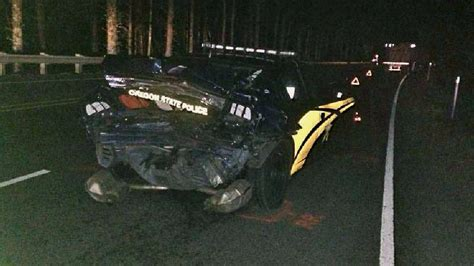 state trooper hit on head driver charged with duii after crashing into state police