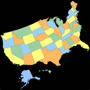 united states of america map 3d model max obj 3ds wrl