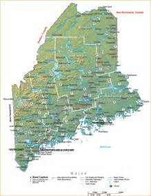Map Of The State Of Maine by Maine State Map Related Keywords Amp Suggestions Maine